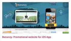 Portfolio of Bonanzy Website - Promotional Website For IOS APP