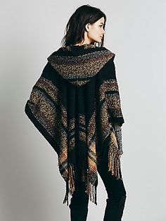 Free People Sunset Hooded Ruana, $68.00