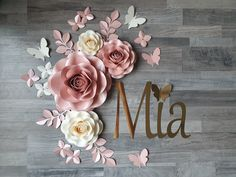 Paper Flowers Nursery made from high quality paper :) by MamilaPaperFlowers Paper Flower Decor, Large Paper Flowers, Flower Wall Decor, Diy Flowers, Flower Decorations, 1st Birthday Party For Girls, Birthday Party Decorations Diy, Festa Moana Baby, Flower Nursery