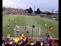 Gol di Luca Gerbino Polo nel derby Ravenna-Cesena