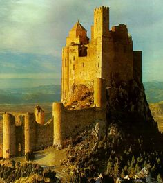 Name:Loarre Castle Location:Loarre (Huesca) Country: Spain Chateau Medieval, Medieval Castle, Beautiful Castles, Beautiful Places, Places To Travel, Places To See, Palaces, Hidden Places, Castle In The Sky