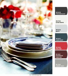 Blue & White Stripe #tablescape