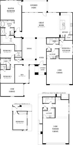 6080 Stanford floor plan: 3,062 sq. ft. / 1 story / 4 bedrooms (optional 5th) / 3 bathrooms