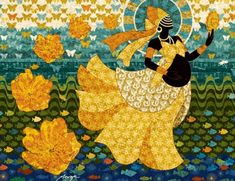 Oshun is the Yorùbá Orisha (Deity) of the sweet or fresh waters and the goddess of love. She is known for healing the sick and bringing fertility and prosperity. She especially watches . Oshun Goddess, Goddess Of Love, Sacred Art, Ancient Art, Gods And Goddesses, African Art, Figurative Art, Deities, Black Art
