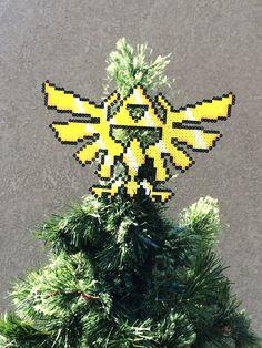 The Legend of Zelda Perler Sprite Triforce Tree by ShowMeYourBits
