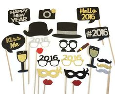 2016 New Years Eve Photo Booth Props 22 Piece by CraftingbyDenise