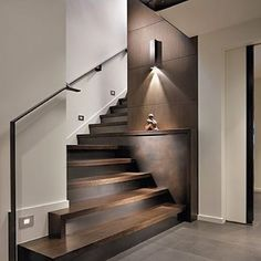 """90 Likes, 1 Comments - MEMIA INTERIORS (@memiainteriors) on Instagram: """"A sleek and contemporary staircase with warm wood tones. ✔️ #memiainteriors #interiordesign…"""""""