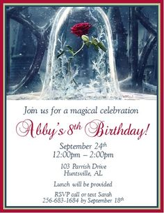 Beauty and The Beast Invitations #4