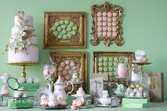 Swoon!!! Laduree inspired dessert table!!