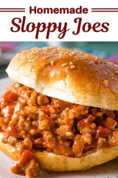 Homemade Sloppy Joe Mix, Best Sloppy Joe Recipe, Sloppy Joes Recipe, Classic Sloppy Joe Recipe, Slow Cooker Sloppy Joes, Vegan Sloppy Joes, Quiche, Grilled Cheese Sloppy Joe, Ground Beef Recipes