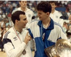 Galis & Petrovic, en el podio del Eurobasket 1989