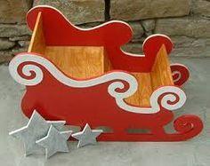Resultado de imagen de wood santa sleigh