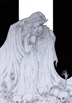 [The Kiss - by ooneithoo on DeviantArt] Hades X Persephone Character Inspiration, Character Art, Character Design, Foto Cartoon, Illustration Art, Illustrations, Hades And Persephone, Lore Olympus, Poses References