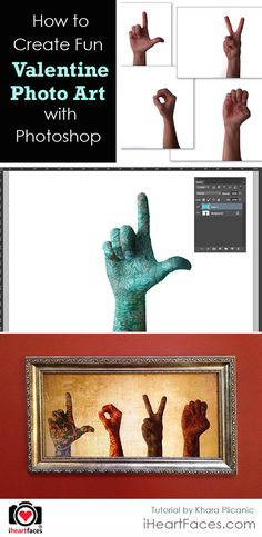 How To Create Fun Valentine Photo Art with Photoshop  #iheartfaces #photography