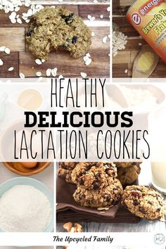 Looking for the Best Lactation Cookie Recipe that also doesn't shoot your health and fitness goals? Try this naturally good (refined sugar-free) lactation cookie that's both delicious and good for you while giving a boost to your milk supply! #lactationcookie #recipe #easy #healthy #best #oatmeal #breastfeeding #milksupply #sugarfree Baking Recipes, Real Food Recipes, Cookie Recipes, Vegan Recipes, Yummy Food, Delicious Recipes, Easy Recipes, Healthy Lactation Cookies, Lactation Recipes