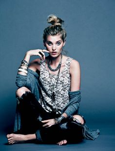 Free People Gets Dark for its March Lookbook Starring Elsa Hosk