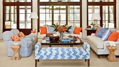 Mix Up the Seating | Mix and match patterns, embrace bold colors, layer rugs, and so much more! Try these tips to create a pretty space to enjoy conversations with friends and family. No matter if you call it a living room, family room, den, or even a keeping room–you've got that one room in your home, aside from the kitchen, that's intended for both family and company. And, we bet, you want it to look both pulled together and comfortable. We are here to tell you it's possible to create a