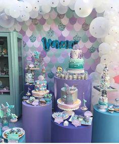 Fairy Birthday Party, Mermaid Birthday, Baby Birthday, Birthday Parties, Trunk Party, Mermaid Baby Showers, Mermaid Diy, Mermaid Parties, Under The Sea Party