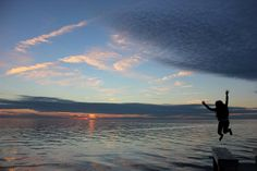 """Photo submitted by Nina A.- """"Hatteras Island Sunsets Make Me Jump with Joy"""""""