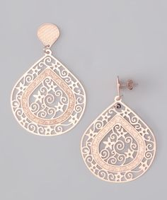 Take a look at this Rose Gold Teardrop Stars Earrings by Treasure Hunt: Rose Gold Jewelry on #zulily today!