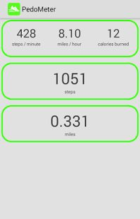 contador de pasos y calorÌas: miniatura de captura de pantalla