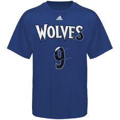 adidas Ricky Rubio Minnesota Timberwolves Home/Away T-Shirt - Slate Blue - $18.99
