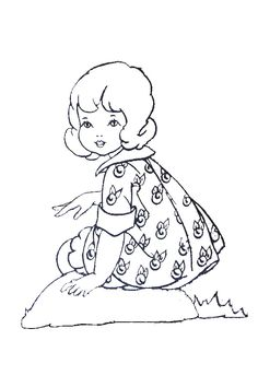 **FREE ViNTaGE DiGiTaL STaMPS**: FREE Vintage Digi Stamp: Vintage Little Girl