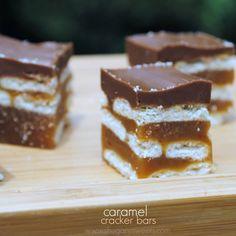 Caramel Cracker Bars: layers of crackers, caramel, and chocolate. SO GOOD!