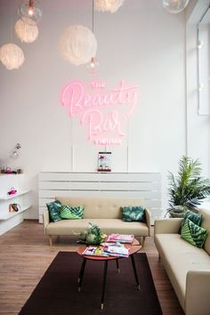 Neon adds fun to plain interiors. Think outside the box & visualize the future of design at rising barn.com.