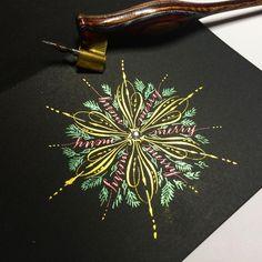 547 отметок «Нравится», 22 комментариев — Sue (@oliveleafcalli) в Instagram: «Christmas cards #calligraphy #calligraphysg #flourishforum #copperplate #spencerian…»