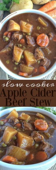 Slow Cooker Apple Cider Beef Stew - Together as Family