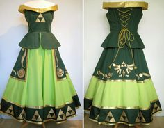 Legend Of Zelda Inspired Cosplay Dress 'Links Daughter' Custom Made To Order
