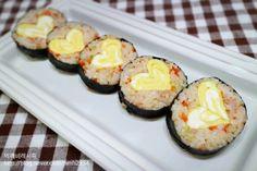 김밥 맛있게 싸는법 - 아이도시락 사랑김밥 : 네이버 블로그 Avocado Egg, Eggs, Cooking, Breakfast, Blog, Kitchen, Morning Coffee, Egg, Blogging