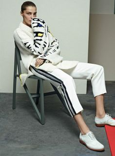 Daria Werbowy shot by Karim Sadli & styled by Grace Coddington | Vogue US | April 2014 | Kicking Back
