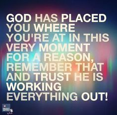 I trust you Father!
