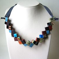 Such a cool necklace, made from recycled paper!