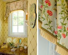 The Enchanted Home: Designer Spotlight: Linda Floyd Interiors Bathroom Window Treatments, Custom Window Treatments, Enchanted Home, Drapes Curtains, Curtain Valances, Large Curtains, Passementerie, Window Dressings, Window Styles