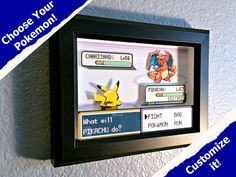 CUSTOMIZABLE Pokemon Fire Red/Leaf Green Battle Scene Shadow Box