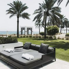 The Chedi Muscat, Oman © Nedzad Hujdurovic The Chedi Muscat, Outdoor Furniture, Outdoor Decor, Sun Lounger, Hotels, Last Minute Vacation, Travel, Hammock Chair, Chaise Longue