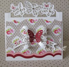 A Passion For Cards: New Die release from Tonic Studios - Clematis Climber Abc Cards, Greeting Cards, Tonic Cards, Studio Cards, Biker Chick, Butterfly Cards, Clematis, Craft Tutorials, I Card