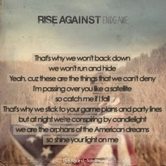 Satellite by Rise Against