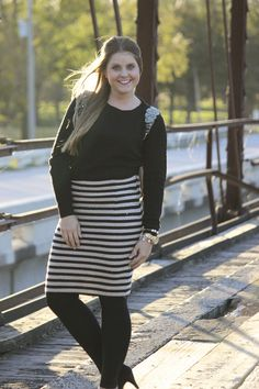 Stripes With Sass Skirt