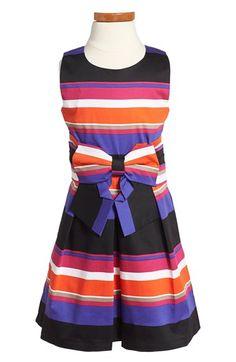 kate spade new york kids 'jillian' stripe sleeveless dress (Toddler Girls & Little Girls) available at #Nordstrom