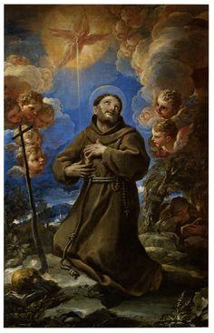 Saint Francis receives the stigmata,  Luca Giordano.