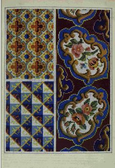 Cross Stitch Borders, Cross Stitch Flowers, Cross Stitch Charts, Cross Stitch Designs, Cross Stitch Patterns, Rose Embroidery, Cross Stitch Embroidery, Vintage Borders, Loom Patterns