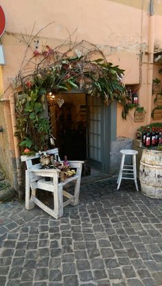 Entrance of a wine shop in Nemi