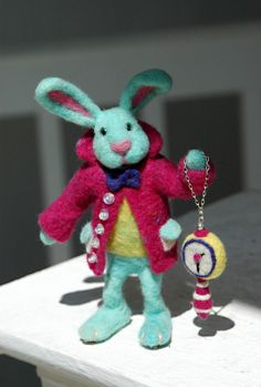 https://flic.kr/p/mWEpFx | Mr Alice in Wonderland Rabbit | Needle felted Alice in Wonderland Rabbit, for a Fairy tale Easter, OOAK collectible. More photos and information in my blog: greendotcreations.blogspot.gr/2014/04/mr-alice-in-wonderl...