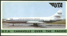 UTA Super Caravelle, 1960s. Brochure. Sud Aviation, Seat Belts, Vintage Air, Aircraft Design, Air Travel, Public Transport, Planes, Transportation, 1960s