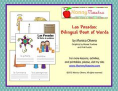 Las Posadas Bilingual Minibooks - 2 books, one in English, the other in Spanish, for Pre-K through 2nd grade. $