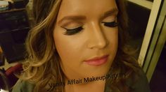 Thin winged liner. Perfect for night out. Makeup by Bettina from Vanity Affair Makeup Artistry